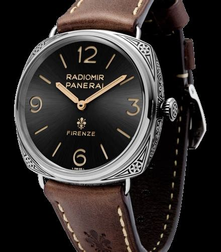 Panerai Firenzi Silver Brown Leather Automatic product features