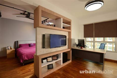 study table in master bedroom surprising wood elements in this scandinavian hdb bto 5 room