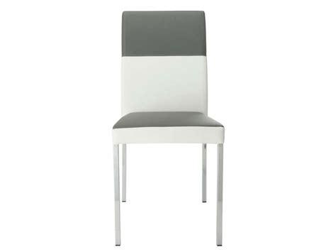 chaise cuisine conforama chaise empilable milo coloris gris blanc vente de chaise