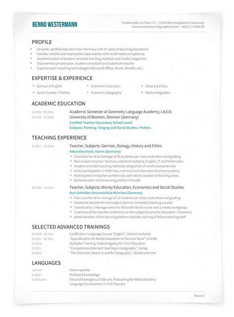 Lebenslauf Englisch Professionell eines resume im professionellen layout der englische