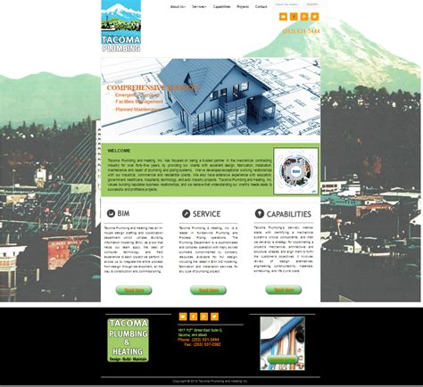 Tacoma Plumbing And Heating by Tacoma Plumbing New Site And Seo Perficio Software Llc