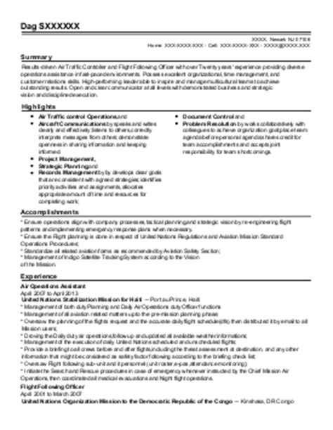 air traffic controller resume sle resume ideas