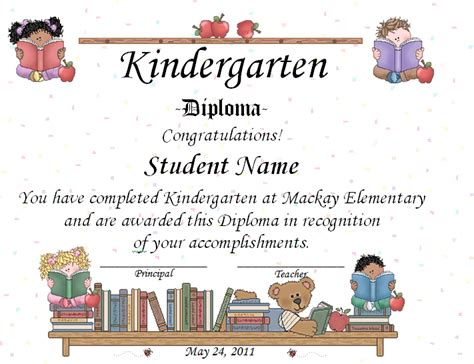 preschool graduation certificates templates keeping focused kindergarten graduation