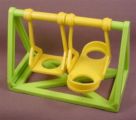 fisher price green swing fisher price vintage yellow lime green base swing set