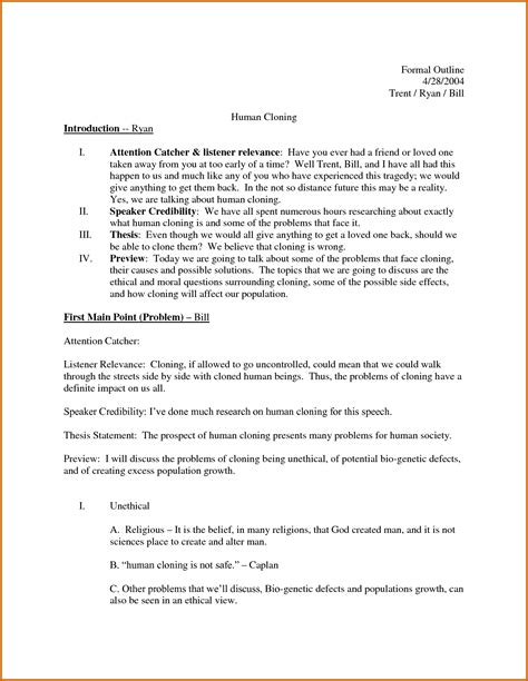 sle essay outline template informal rental agreement template 28 images 6
