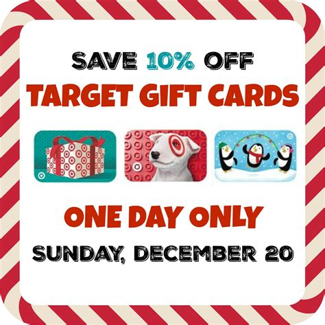 Target Discount Gift Card - target gift card discount save 10 on dec 20 only bargains to bounty
