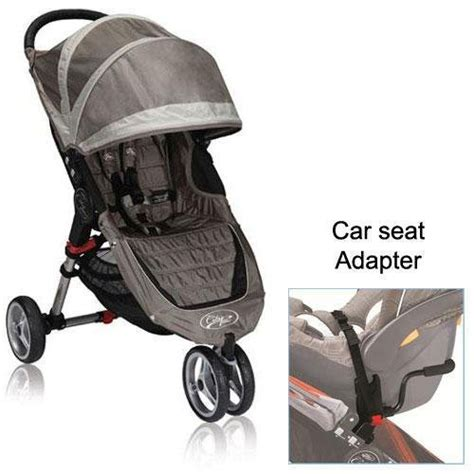 city mini car seat adapter baby jogger city mini stroller in sand with a car