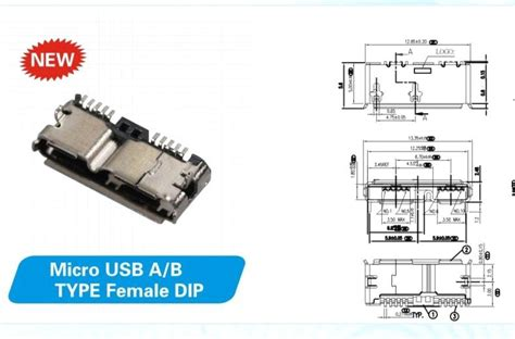 usb3 0 connector micro usb ab type dip purchasing souring ecvv purchasing