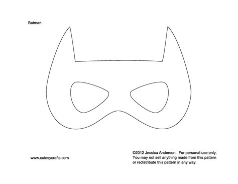 best photos of batman mask template cut out make your
