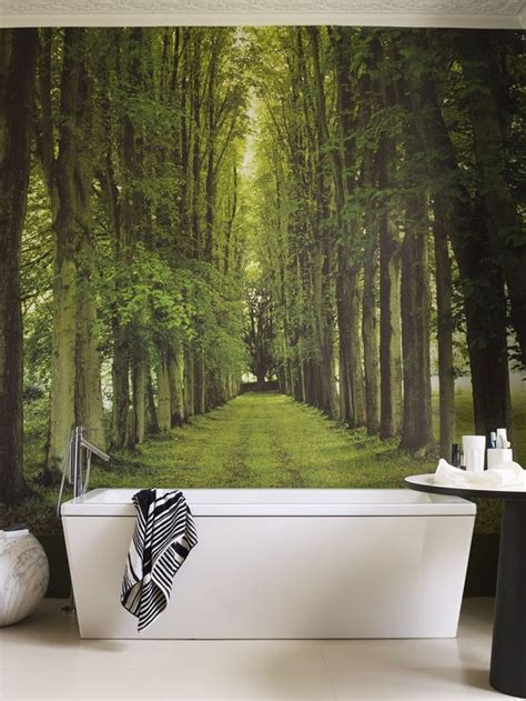 bathroom in the woods 26 photo accent walls that will blow your mind digsdigs