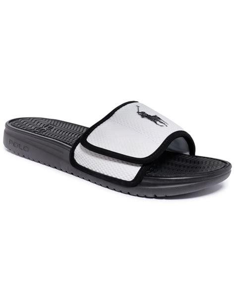 ralph sandal lyst polo ralph romsey sandals in black for