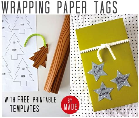 printable christmas wrapping paper a3 gift tags made everyday