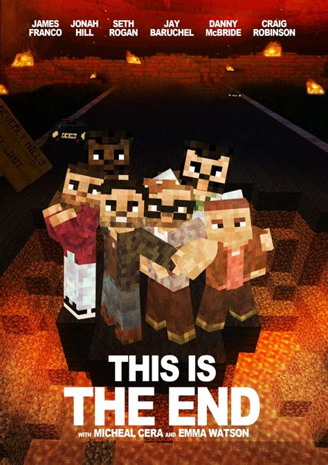 this is the this is the end minecraft poster minecraft