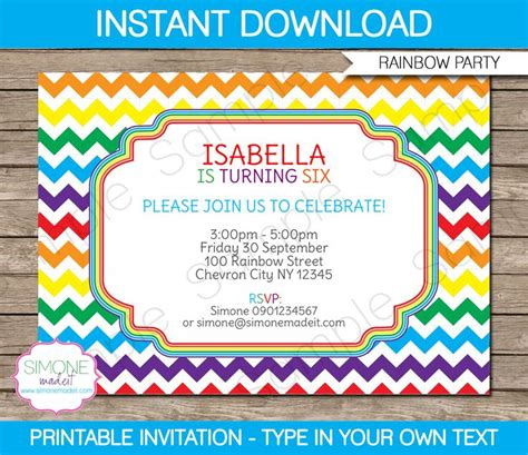printable naruto birthday invitations rainbow party invitations template rainbow party