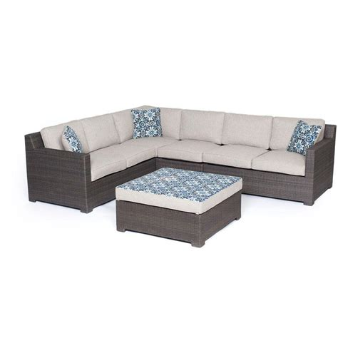 all weather wicker deep seating cushion outdoor recliner hanover metropolitan 5 piece all weather wicker patio deep