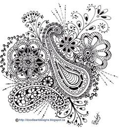 flower doodle coloring pages doodle designs paisley print with flowers in black
