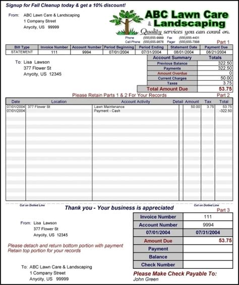 snow removal invoice template lawn maintenance bid template lawn xcyyxh