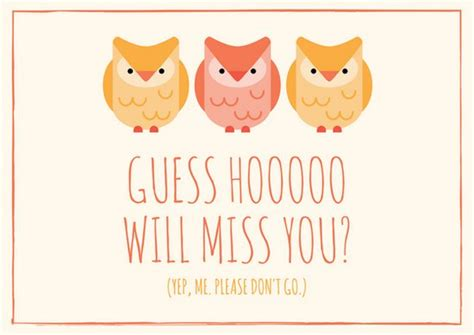owl miss you card template owl themed going away card templates by canva