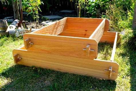 Cedar Planter Box Kits by Raised Garden Bed Kit Elevated Planter Box Tiered Garden Bed