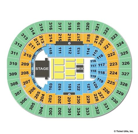 moda center seating map moda center portland or seating chart view
