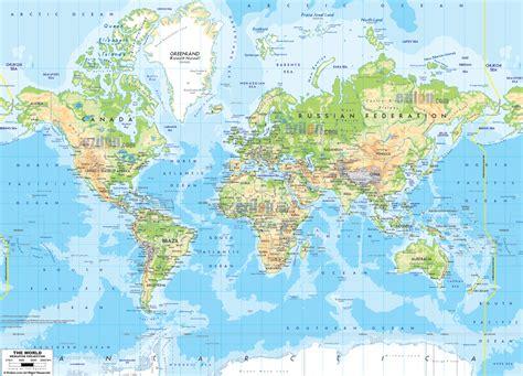 world physical map ezilon maps