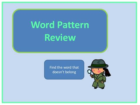 word finder pattern match decoding word pattern review
