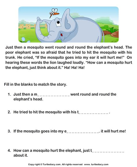 reading comprehension stories worksheet 12 turtle diary