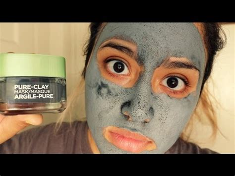 L Oreal Detox Clay Mask Review by New L Oreal Clay Mask Detox Brighten Review Demo