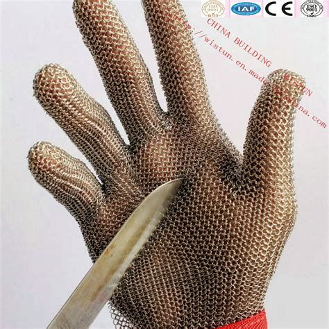 chainmail gloves for saw china stainless steel cut resistant gloves safety