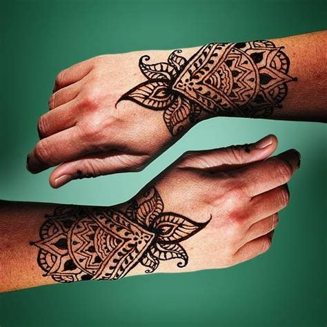 henna style wrist tattoos henna designs design