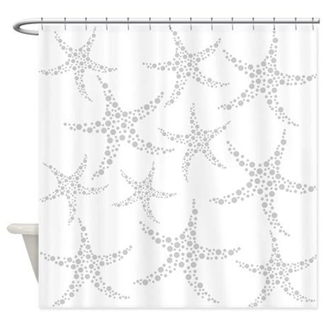 starfish shower curtain dotty gray starfish shower curtain by metarla