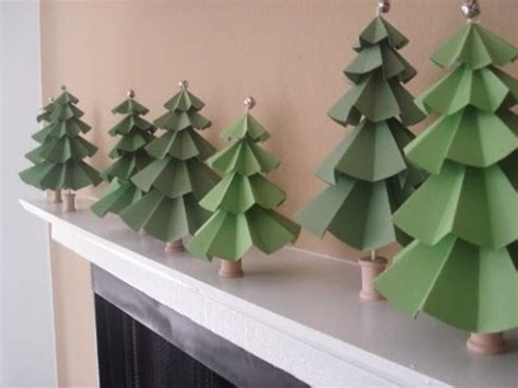 How To Make A 3d Tree Out Of Paper - diy handmade tree modular tree