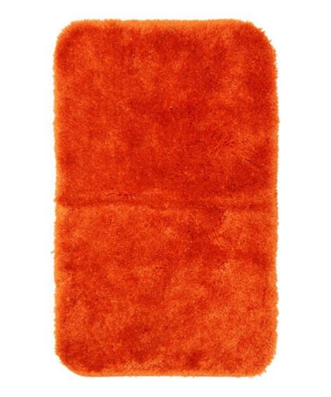 Orange Bathroom Rugs by Bright Orange Royal Luster Bath Rug
