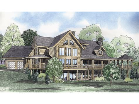 montana bay luxury log home plan 073d 0035 house plans