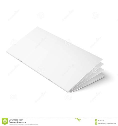 multipage brochure template on white background stock