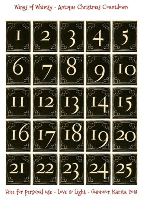 free printable vintage numbers vintage christmas village day 2 3 4 free printables