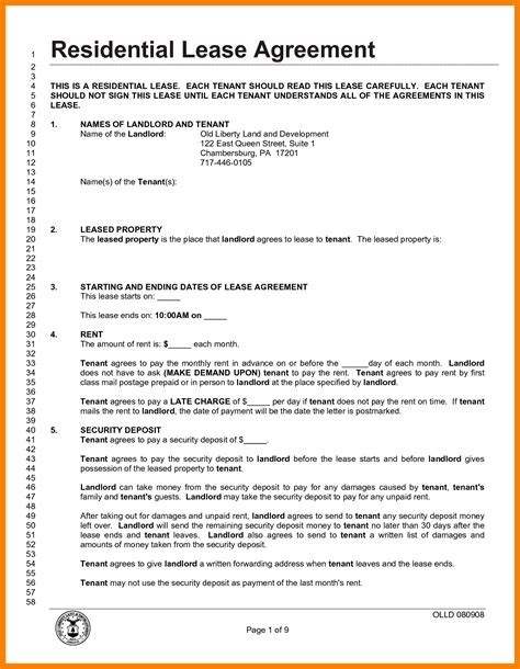 8 lease agreement template pdf target cashier
