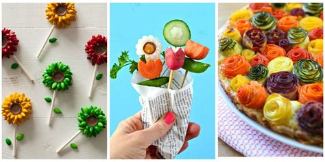 how to make flower food 20 ways to make your food look like flowers flower