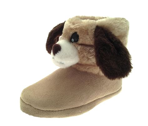 lapin house shoes kids girls novelty slipper boots booties teddy bear rabbit slippers size uk 9 3