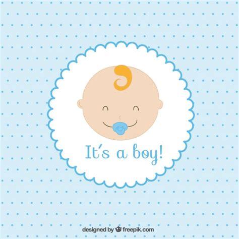 baby boy card vector premium