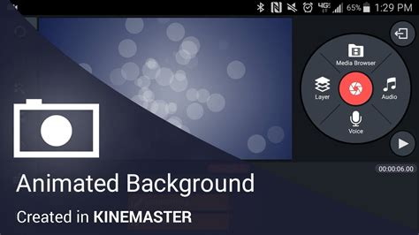 android layout background animation animated background in the kinemaster mobile video editing