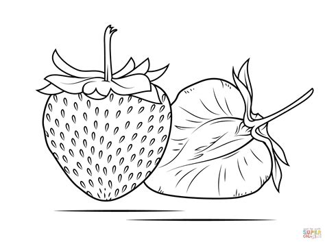 Galerry strawberry coloring page printable