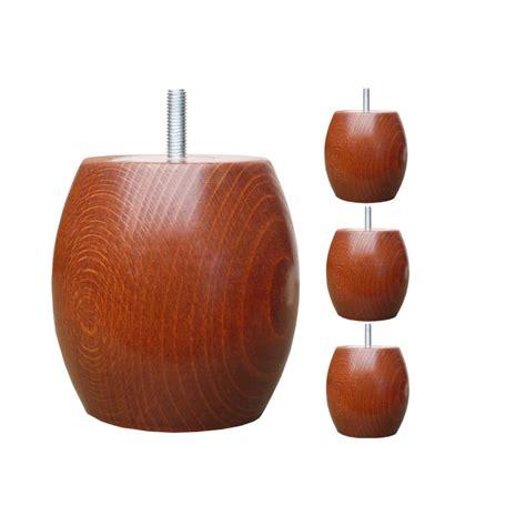 Cylindre En Polystyrene #12: Pieds-de-lit-boule-h10cm-o95-teinte-merisier.jpg
