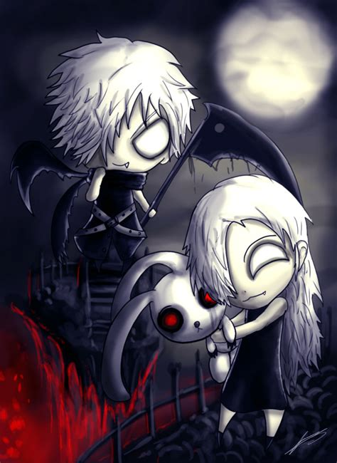 imagenes anime emo punk the grim siblings emo gothic anime art drawing