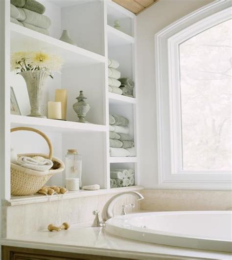 Bathroom Open Shelves Stylish And Practical Places For Bath Towels Design Build Pros