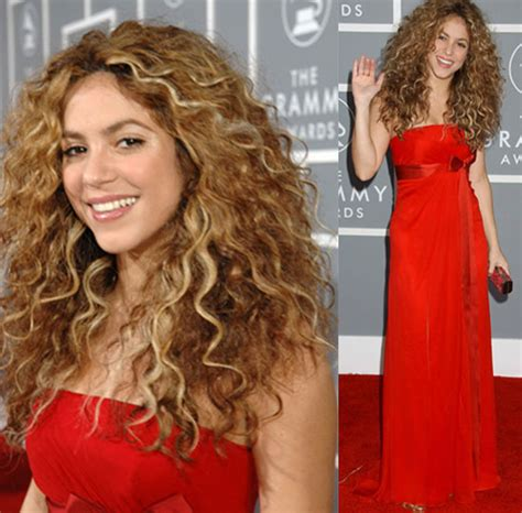 what products does shakira use on her hair the grammys red carpet shakira popsugar beauty