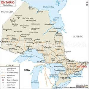ontario map canadian scenery