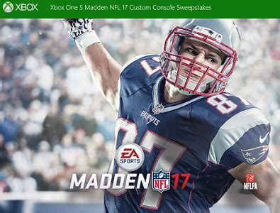 Sweepstakes Xbox One - sweepstakes xbox one s madden nfl 17 custom console