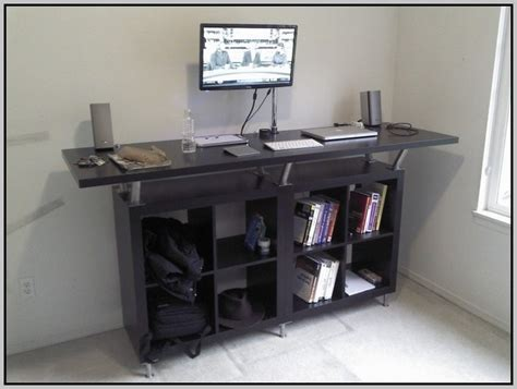 Standing Computer Desk Ikea Standing Computer Desk Diy Desk Home Design Ideas
