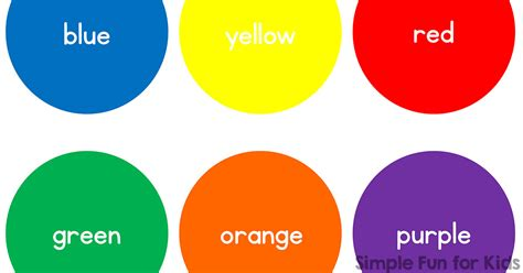 basic color chart basic color circles simple for